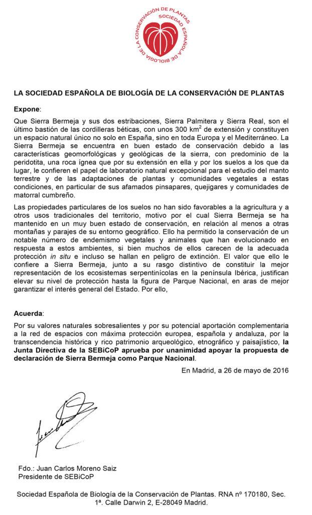 SEBICoP apoya la calificación de Sierra Bermeja como parque nacional