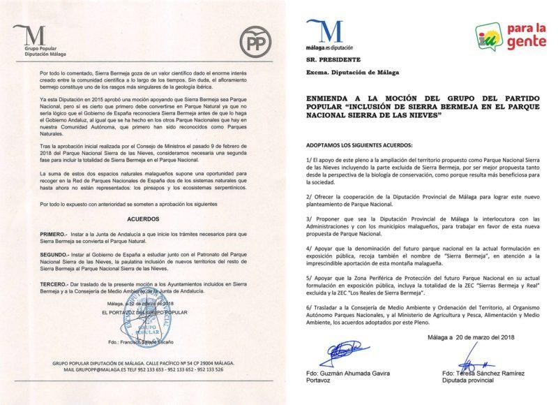 Acuerdo de Pleno de la Diputación Provincial de Málaga 20.03.2018
