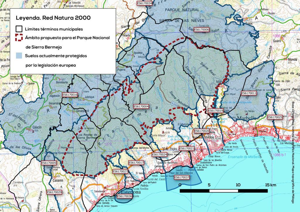 Zonas protegidas por la Red Natura 2000