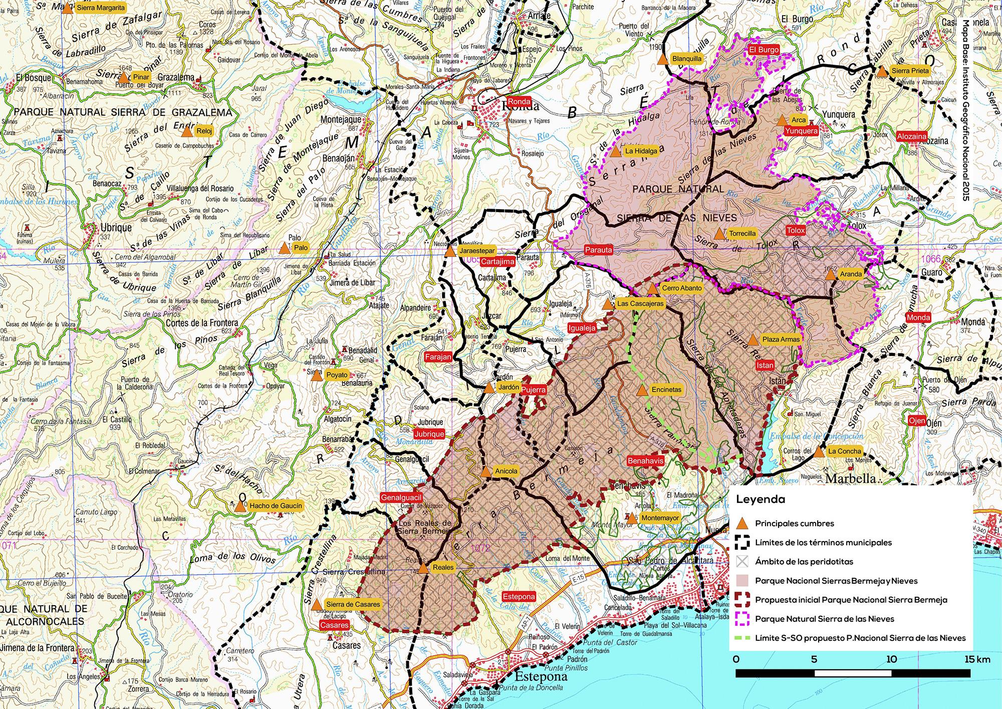 Propuesta de Parque Nacional de las sierras Bermeja y de las Nieves
