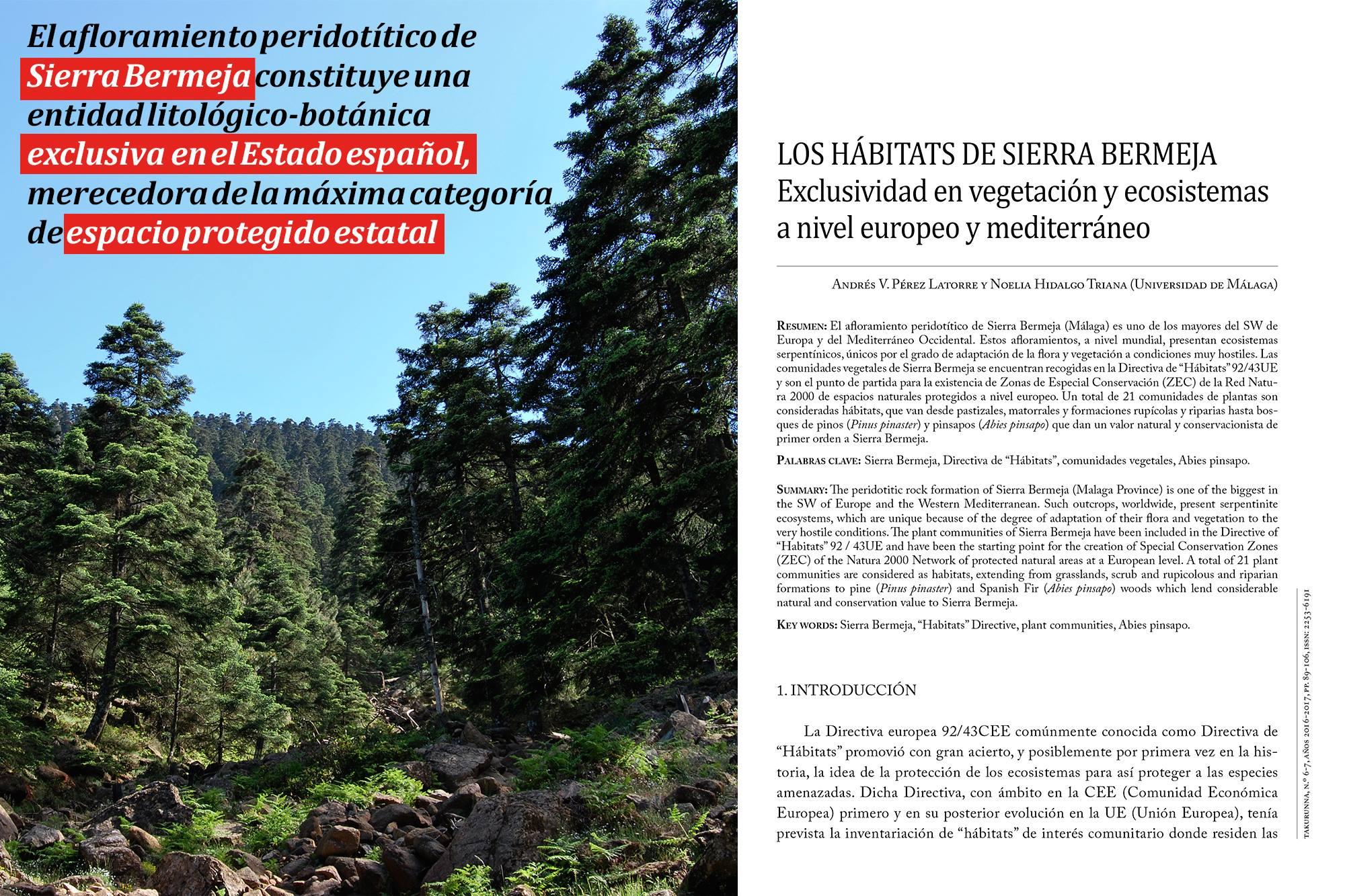 Los hábitats de Sierra Bermeja