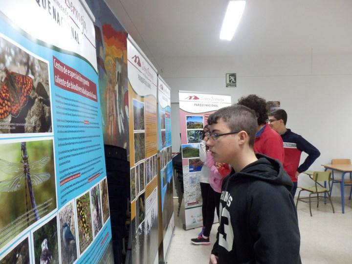 Exposición sobre Sierra Bermeja en IES Mar de Alborán de Estepona