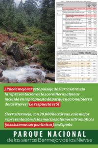 Sierra Bermeja mejora manifiestamente la propuesta de parque nacional Sierra de las Nieves