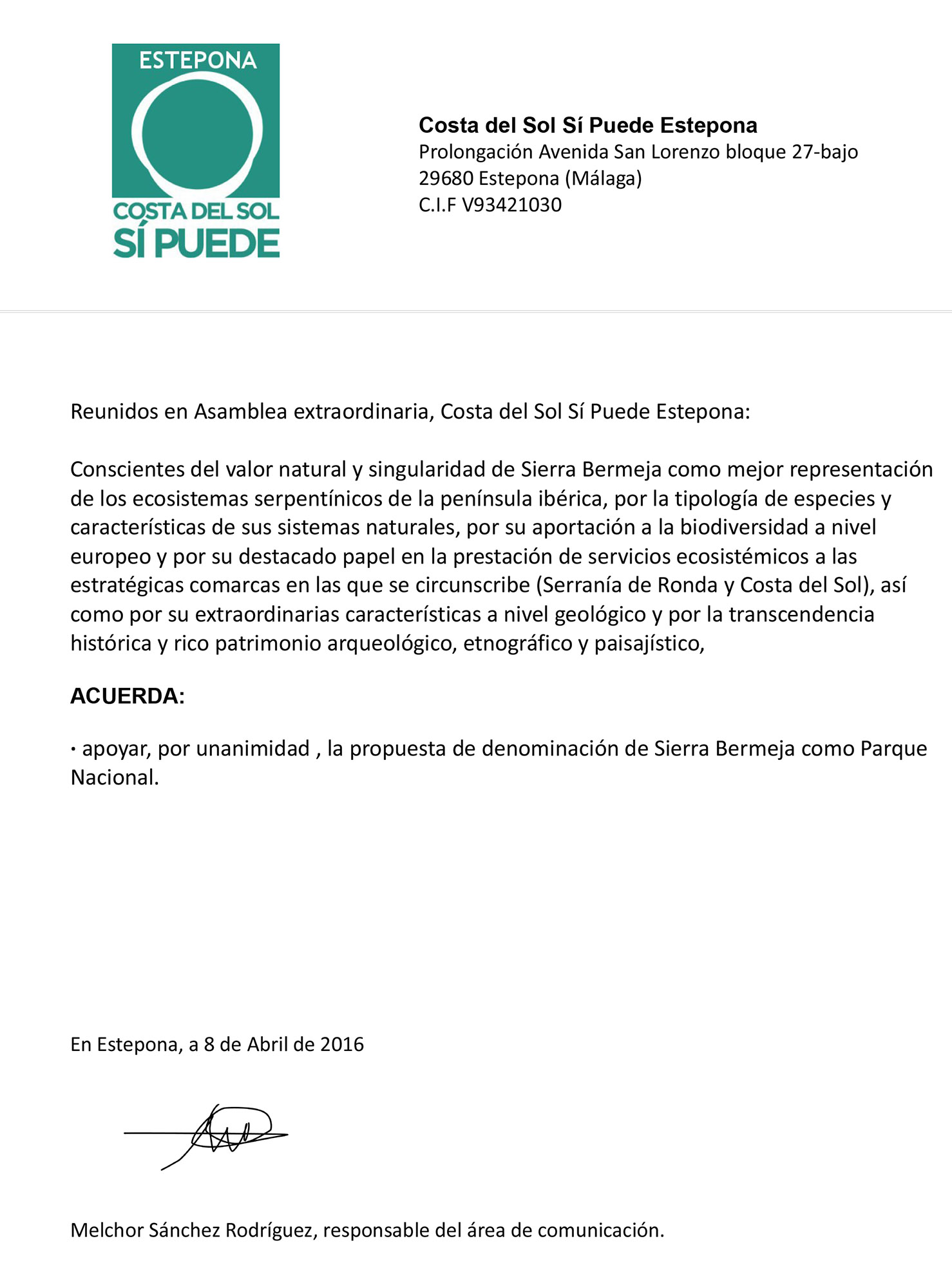 CSSP apoya la declaración de Sierra Bermeja como Parque Nacional