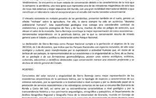 El Depto de Geografía de la UGR apoya Sierra Bermeja Parque Nacional