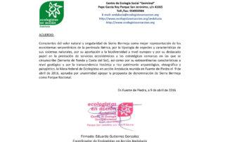 Ecologistas en Acción Andalucía apoya Sierra Bermeja Parque Nacional