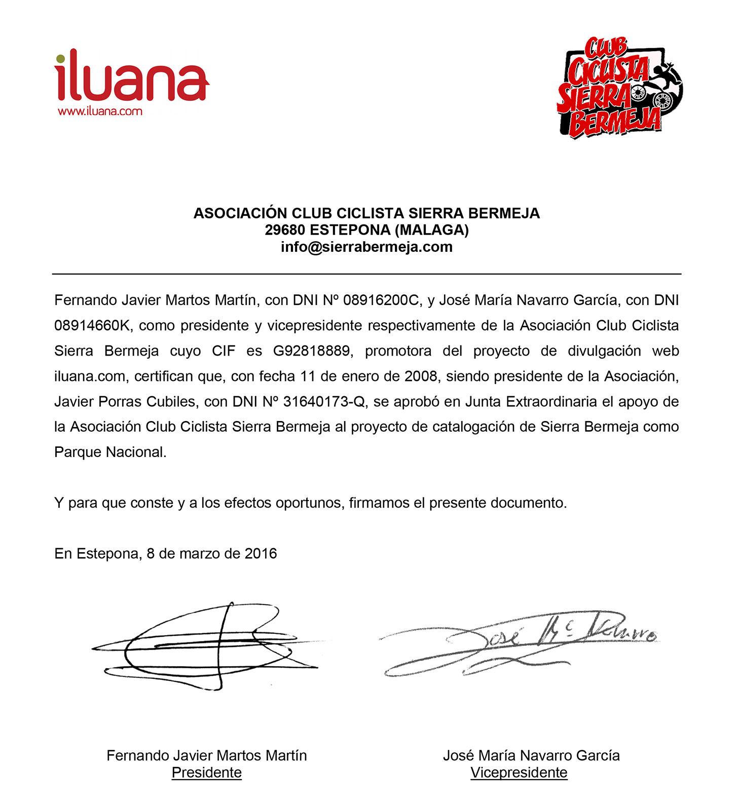 iluana apoya la declaración de Sierra Bermeja como Parque Nacional