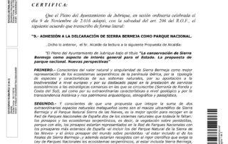 El Ayto de Jubrique apoya la declaración de Sierra Bermeja como Parque Nacional