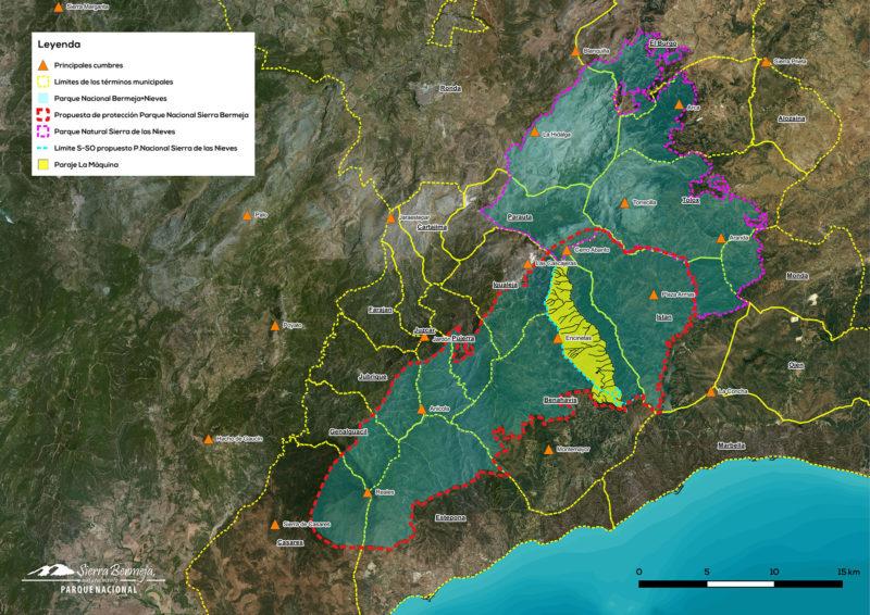 La Máquina dentro de la propuesta de PN Sierra de las Nieves