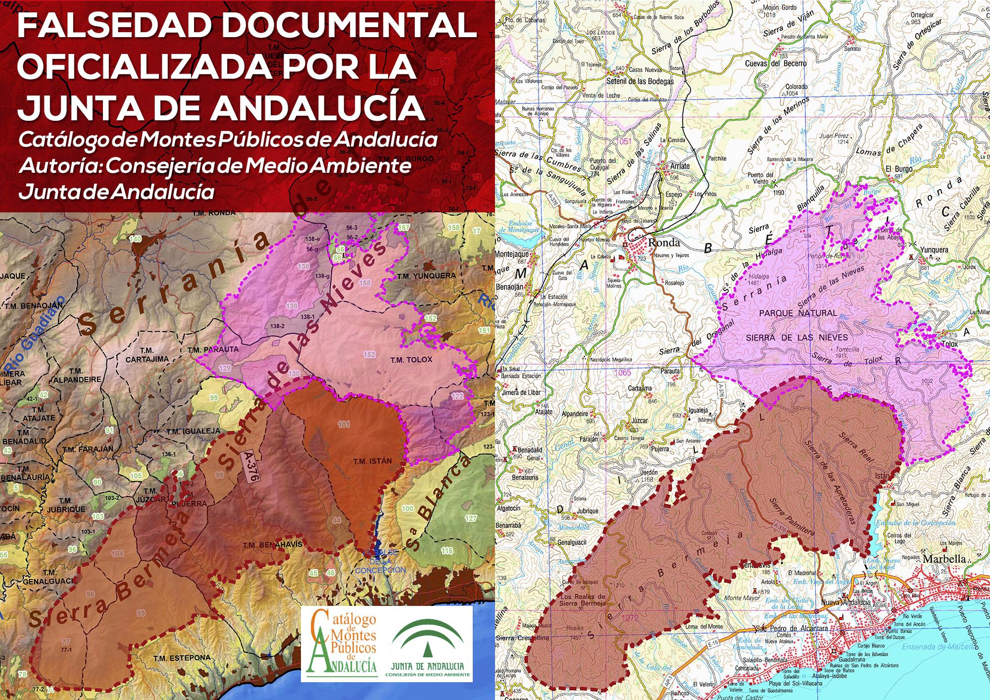 Catálogo de Montes Públicos de la Junta de Andalucía