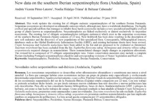 Serpentinófitos malagueños