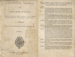 Agricultura General, de Gabriel Alonso de Herrera, edición de 1818