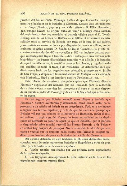 Nota sobre un herbario de plantas andaluzas de D. Simón de Rojas Clemente y Rubio (1942)