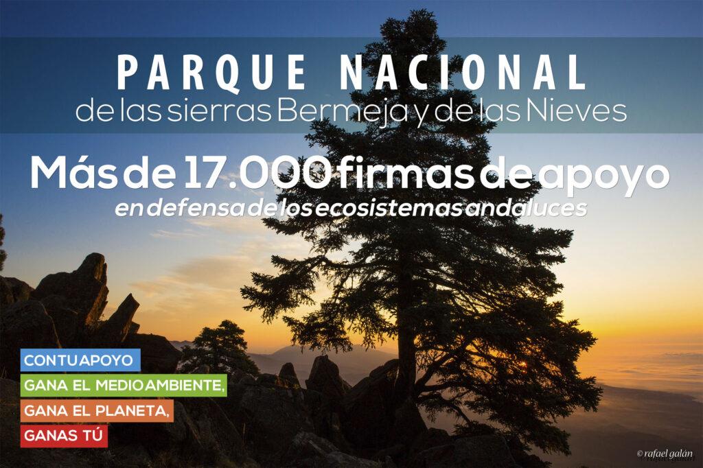 Parque Nacional de las sierras Bermeja y de las Nieves. Campaña de recogida de firmas