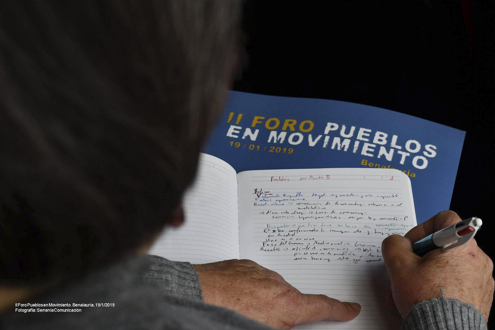 II Foro Pueblos en Movimiento (Benalauría, 19/1/2019)