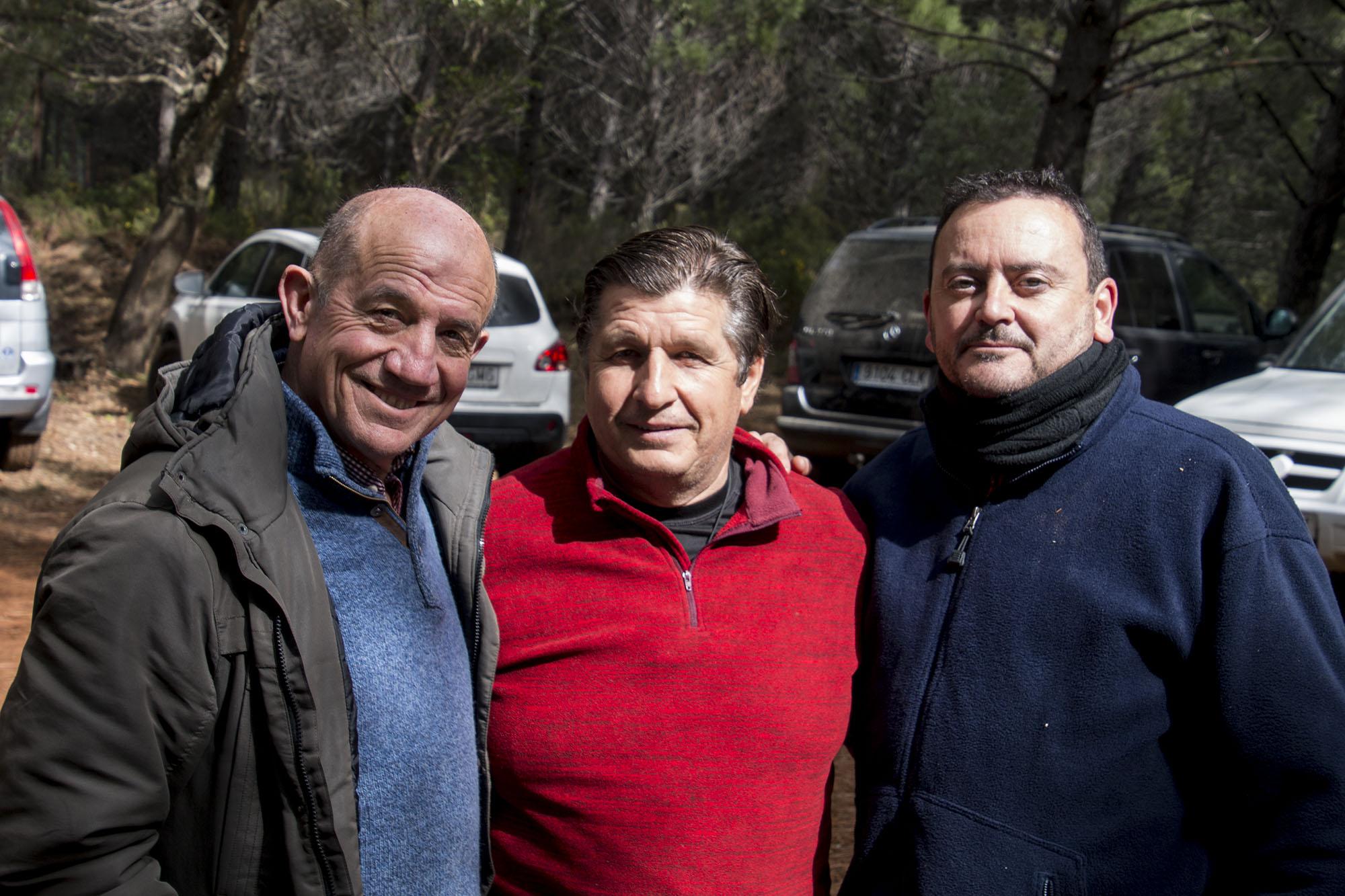 Antonio Martín Chicote, José Luis Ojeda e Ildefonso Navarro Luengo