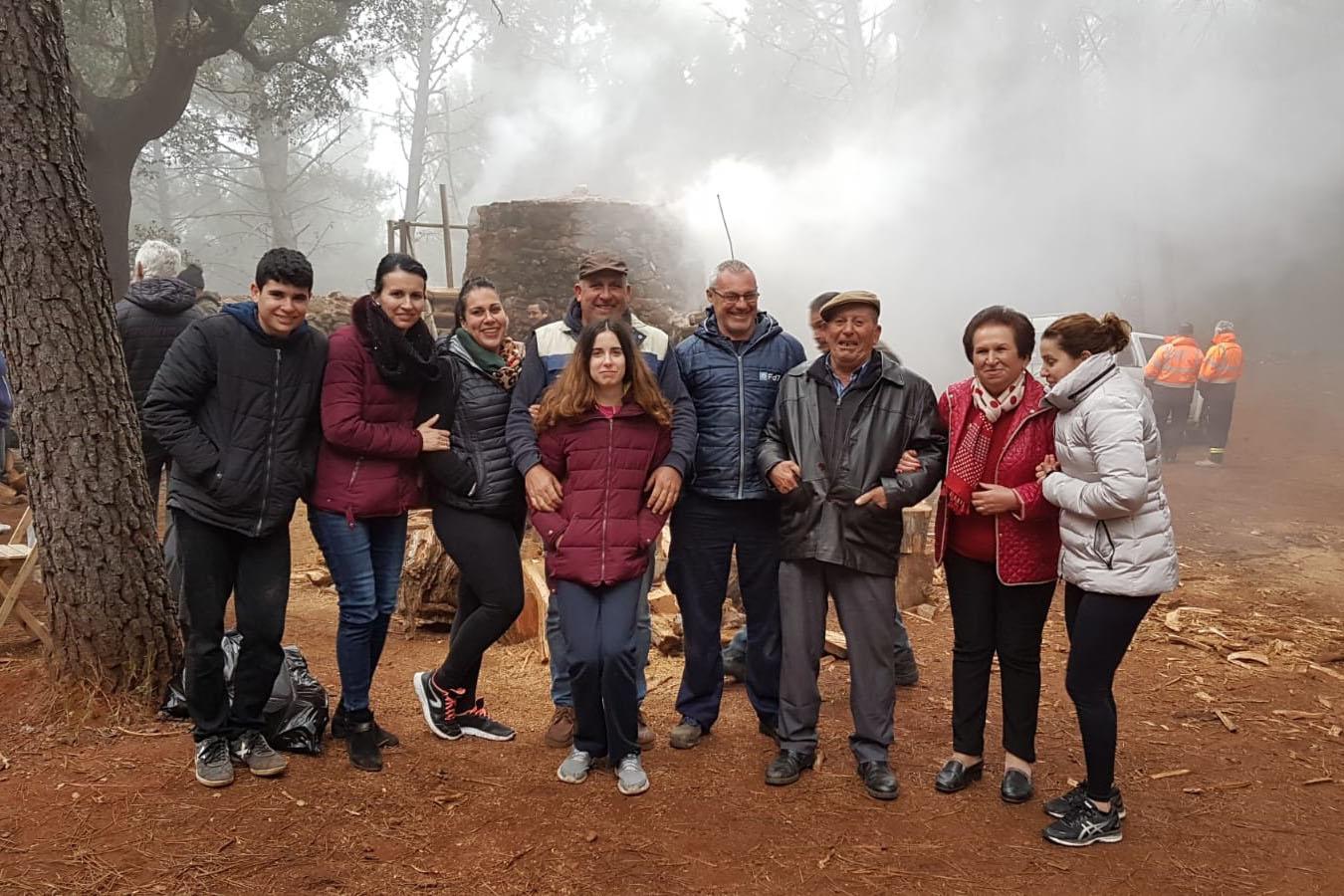 Juan Cabas Benítez y familia