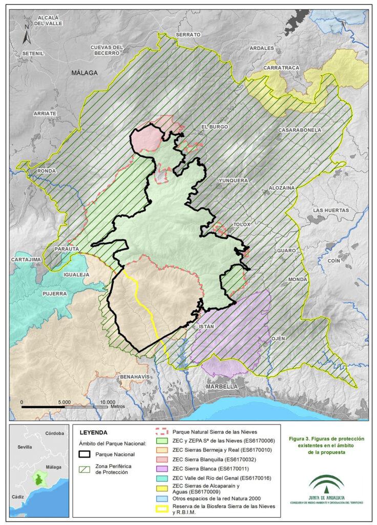 Parque Nacional Sierra de las Nieves - Red Natura 2000