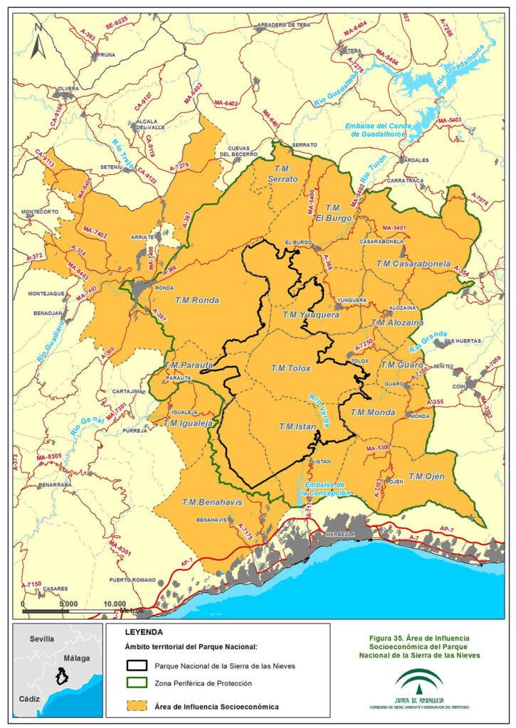 Zona de Influencia Económica del Parque Nacional Sierra de las Nieves