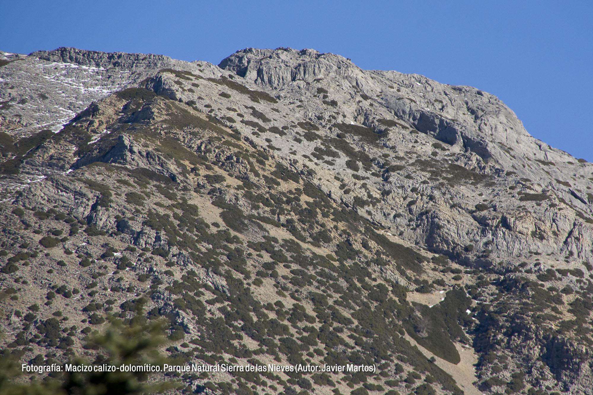 Macizo calizo-dolomítico. Parque Natural Sierra de las Nieves