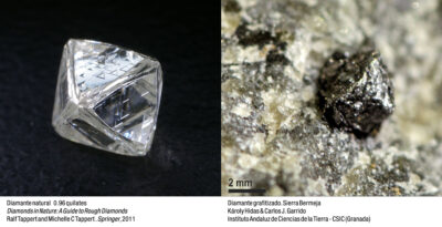 Diamantes vs diamantes grafitizados