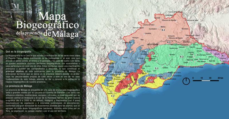 Mapa biogeográfico de la provincia de Málaga