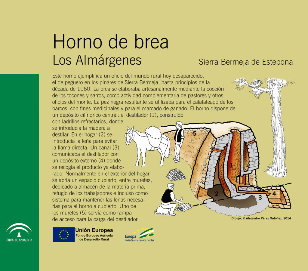 Horno de brea Los Almárgenes, Sierra Bermeja de Estepona