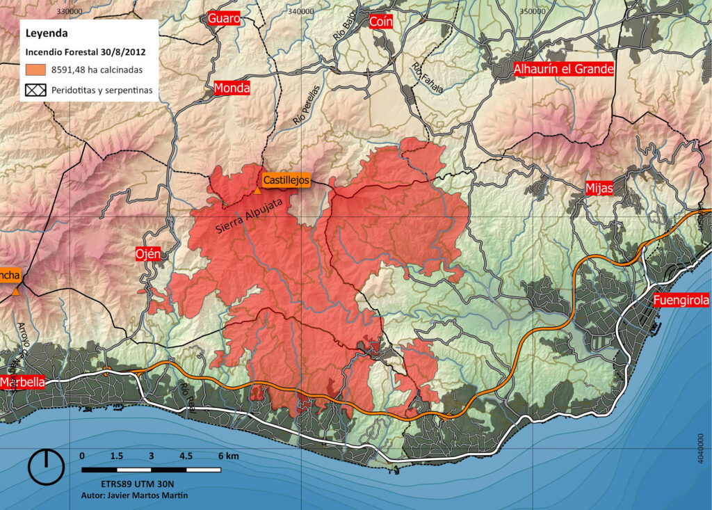 Incendio Sierra Alpujata 2012