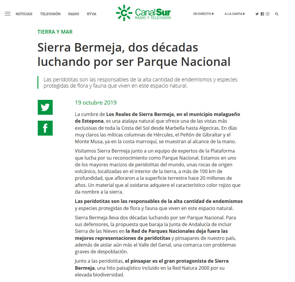 Canal Sur Sierra Bermeja