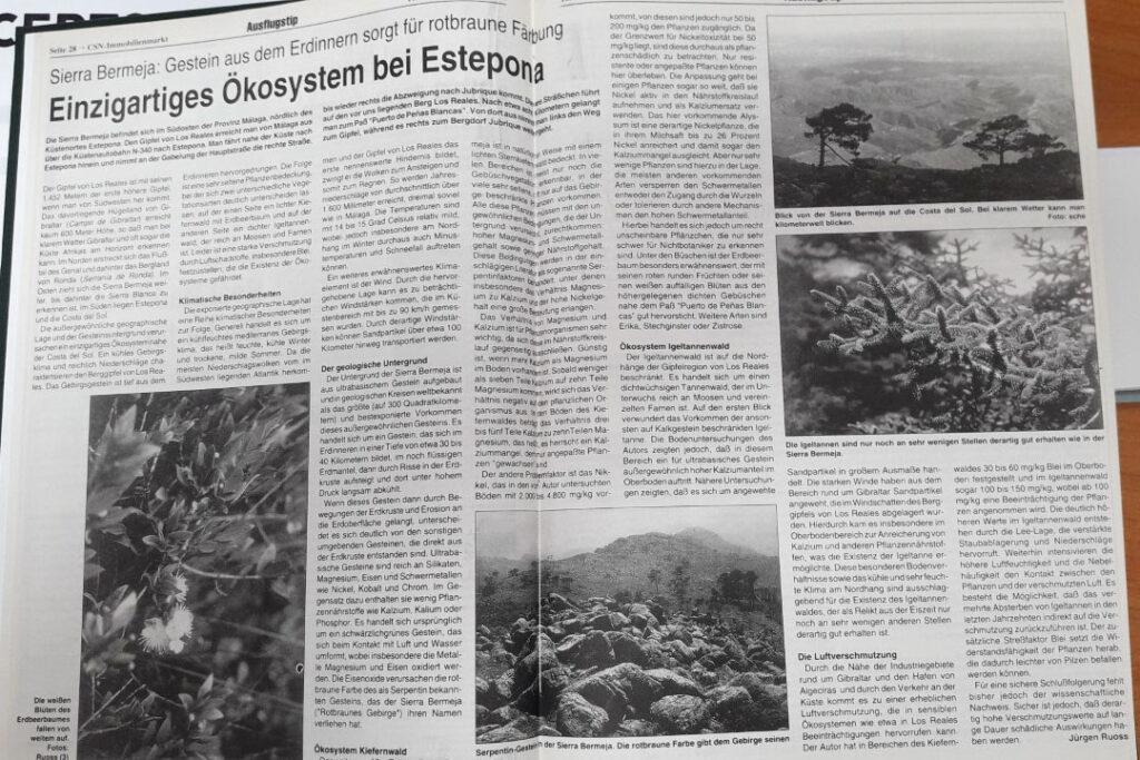 Einzigartiges Ökosystem bei Estepona (Jürgen Rouss, 2000)