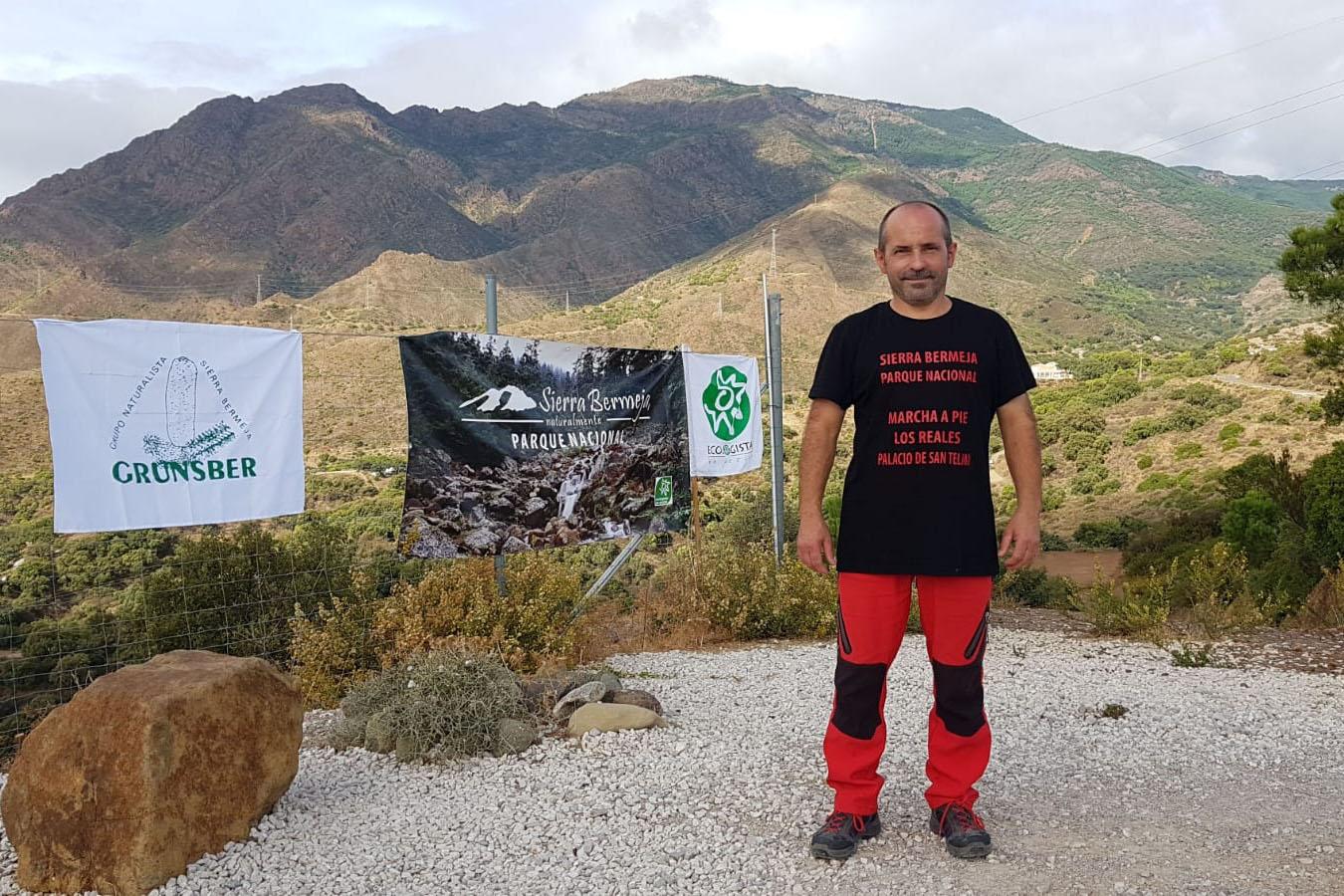 Pumuky a la salida desde Sierra Bermeja