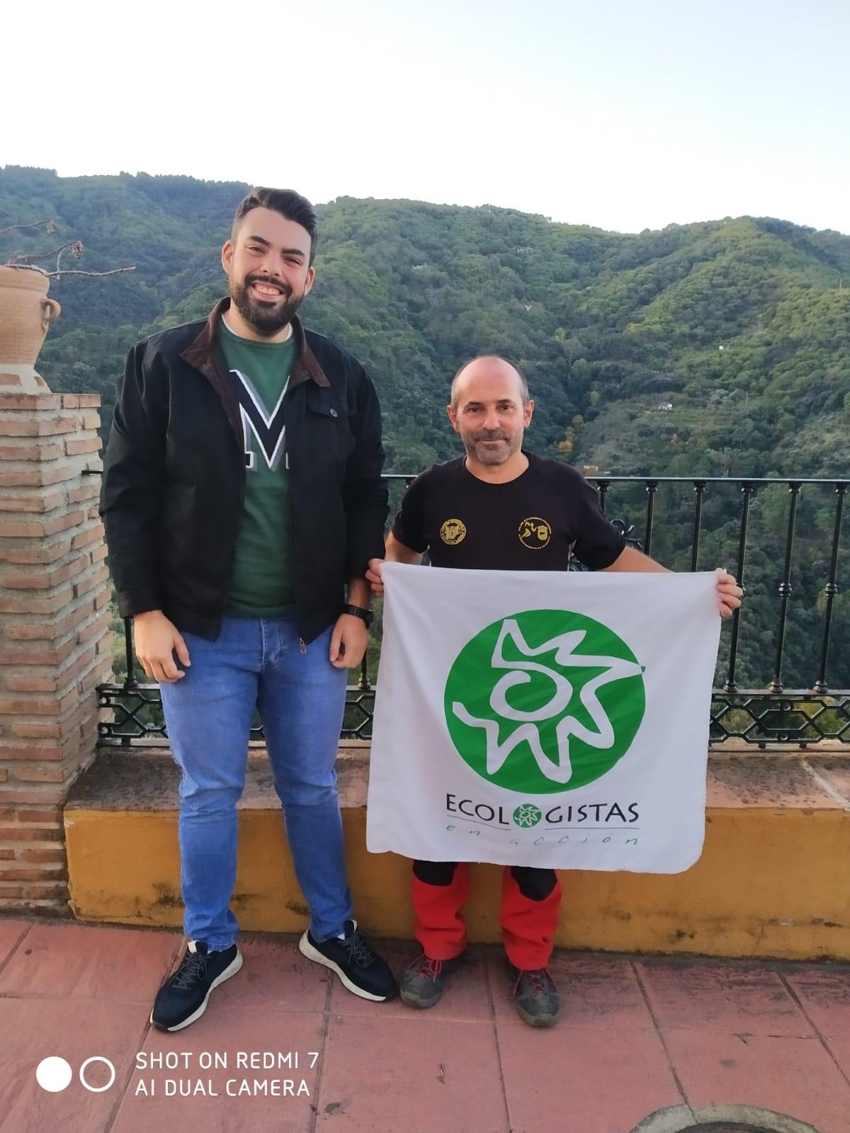 Pumuky con Alberto Benitez Andrades, alcalde de Jubrique