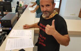 Pumuky finaliza con éxito la marcha Sierra Bermeja-Sevilla