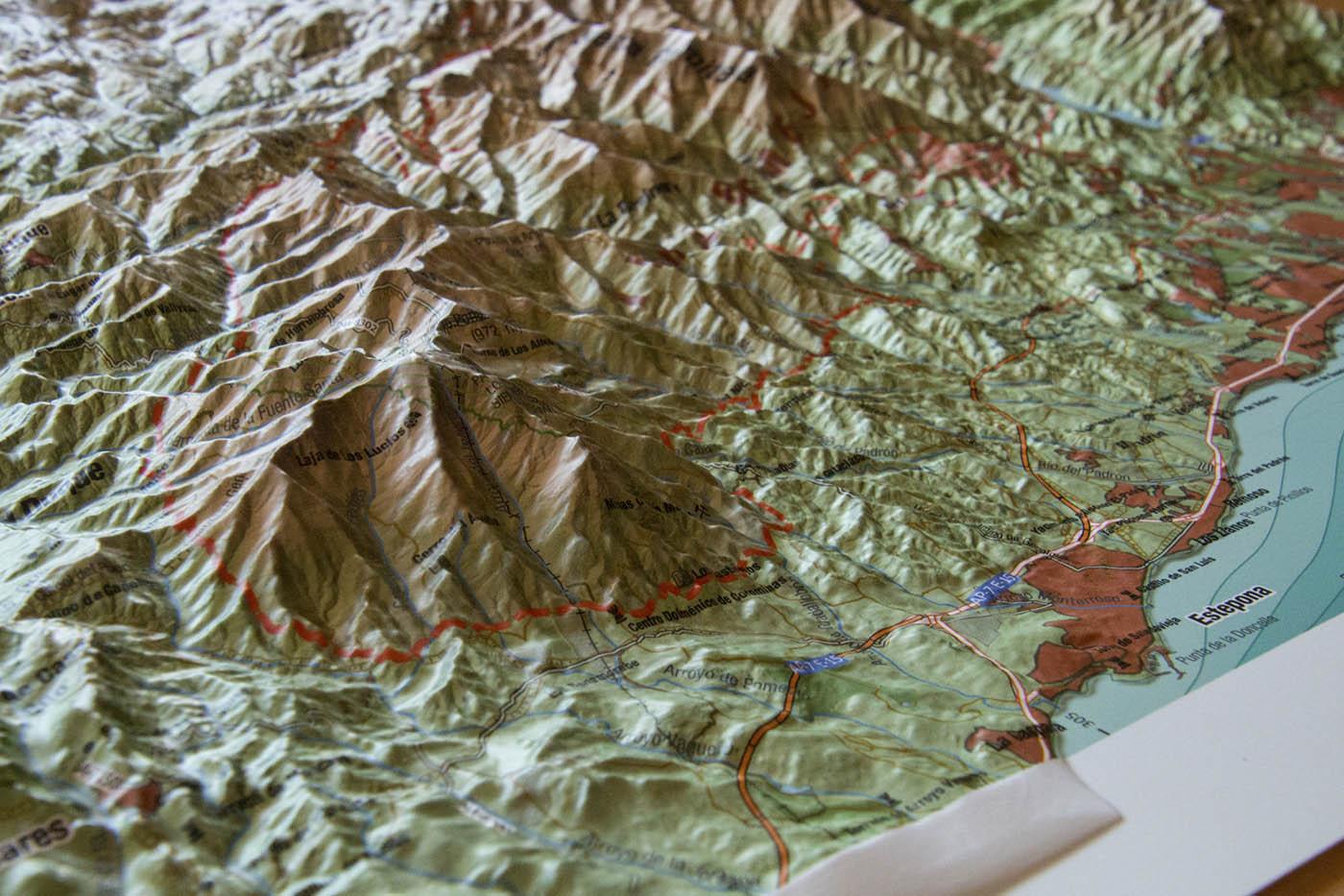 Mapa relieve de Sierra Bermeja