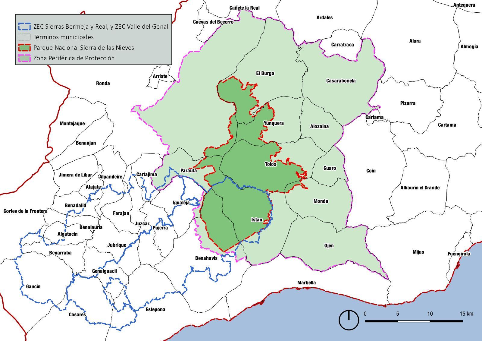 Parque Nacional Sierra de las Nieves y su Zona Periférica de Protección (ZPP)