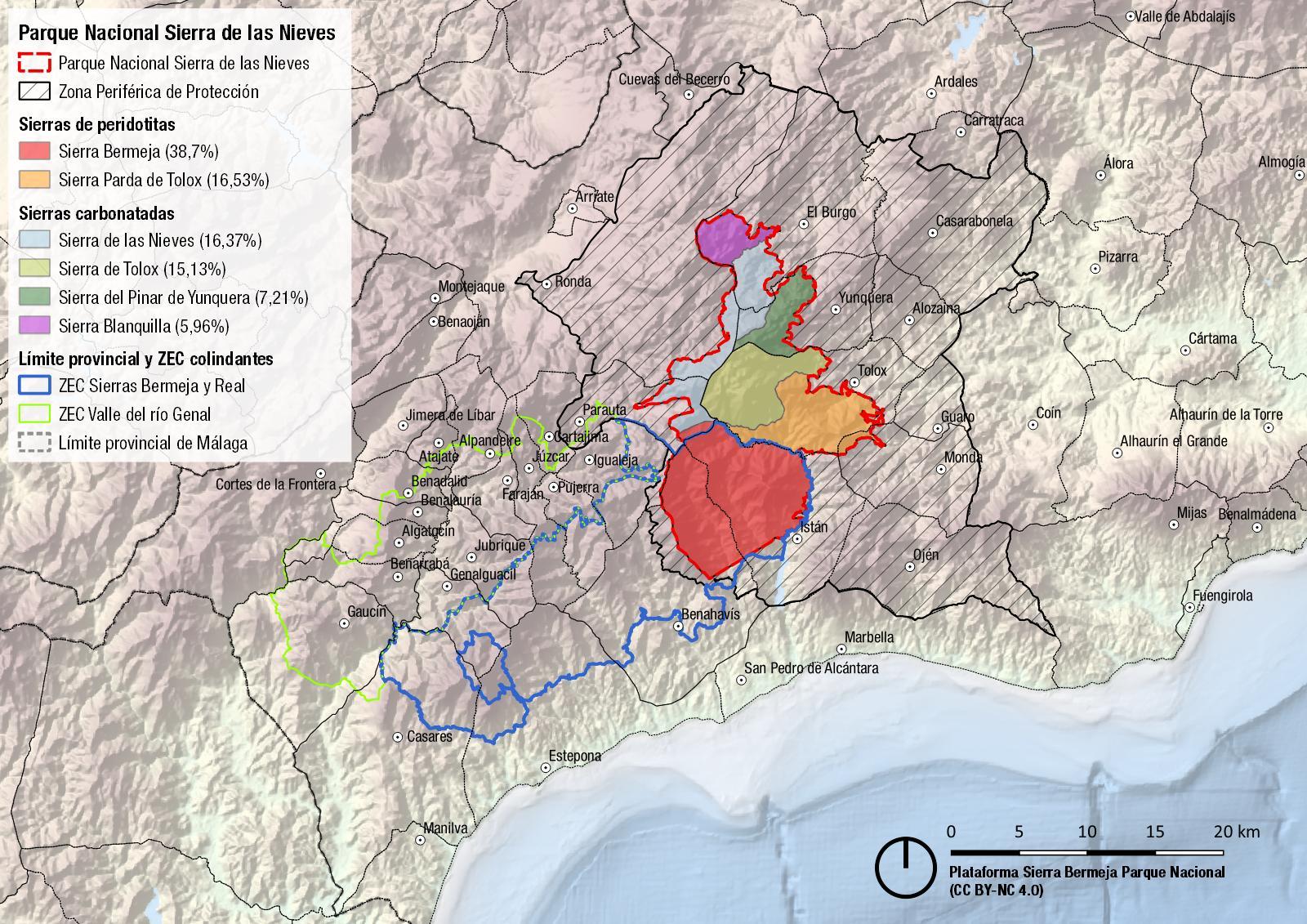 Sierras del Parque Nacional Sierra de las Nieves